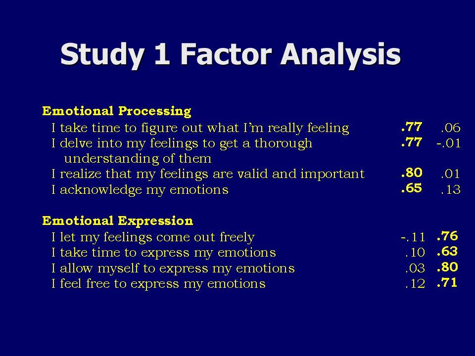 Study 1 Factor Analysis