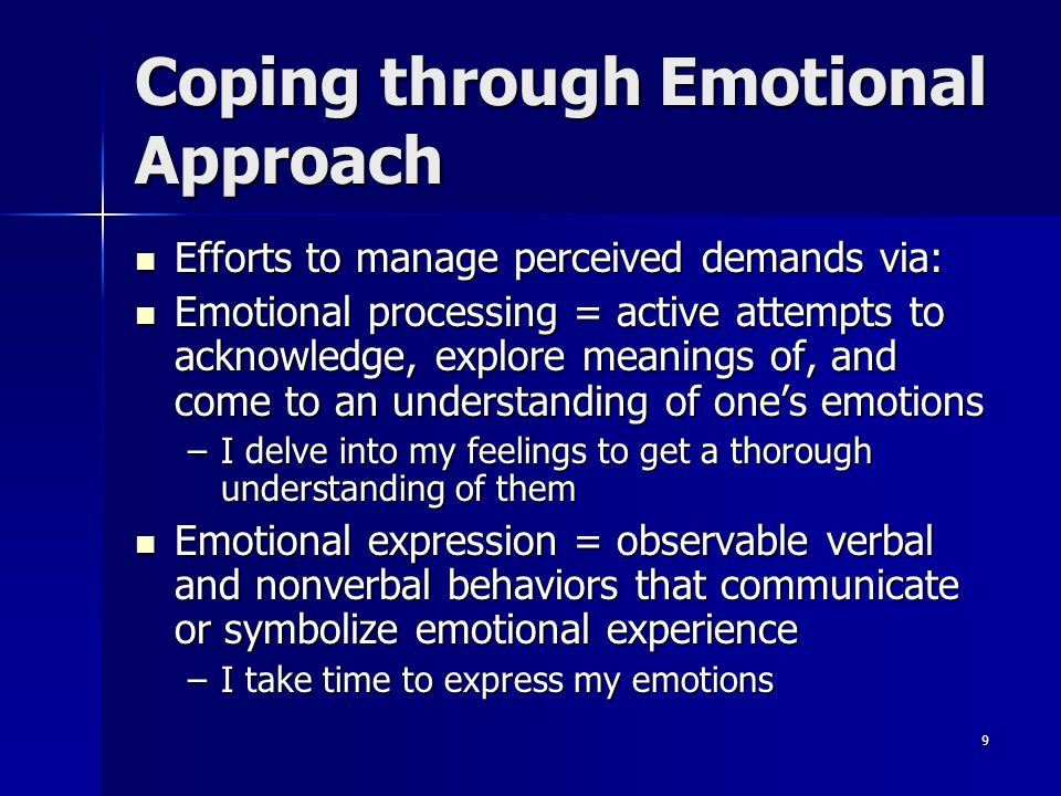 Coping through Emotional Approach