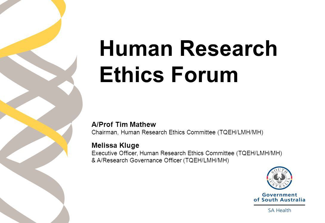 Human Research Ethics Forum