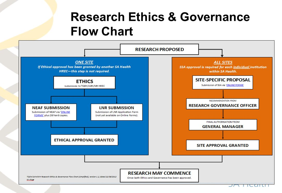 Research Ethics & Governance Flow Chart