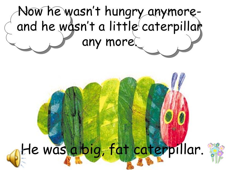 He was a big, fat caterpillar.