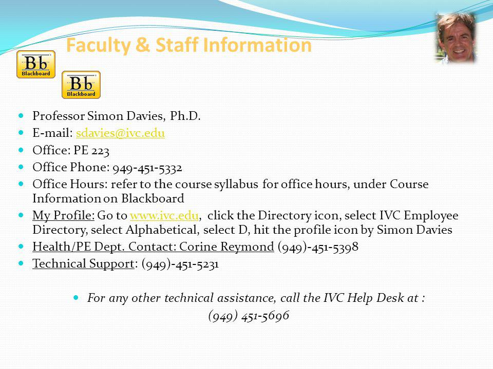 Faculty & Staff Information