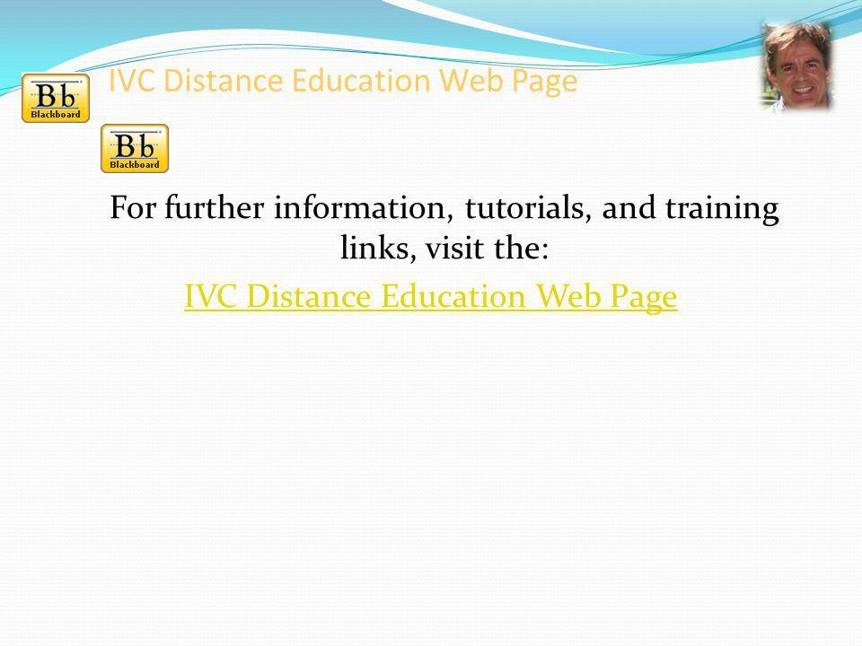 IVC Distance Education Web Page