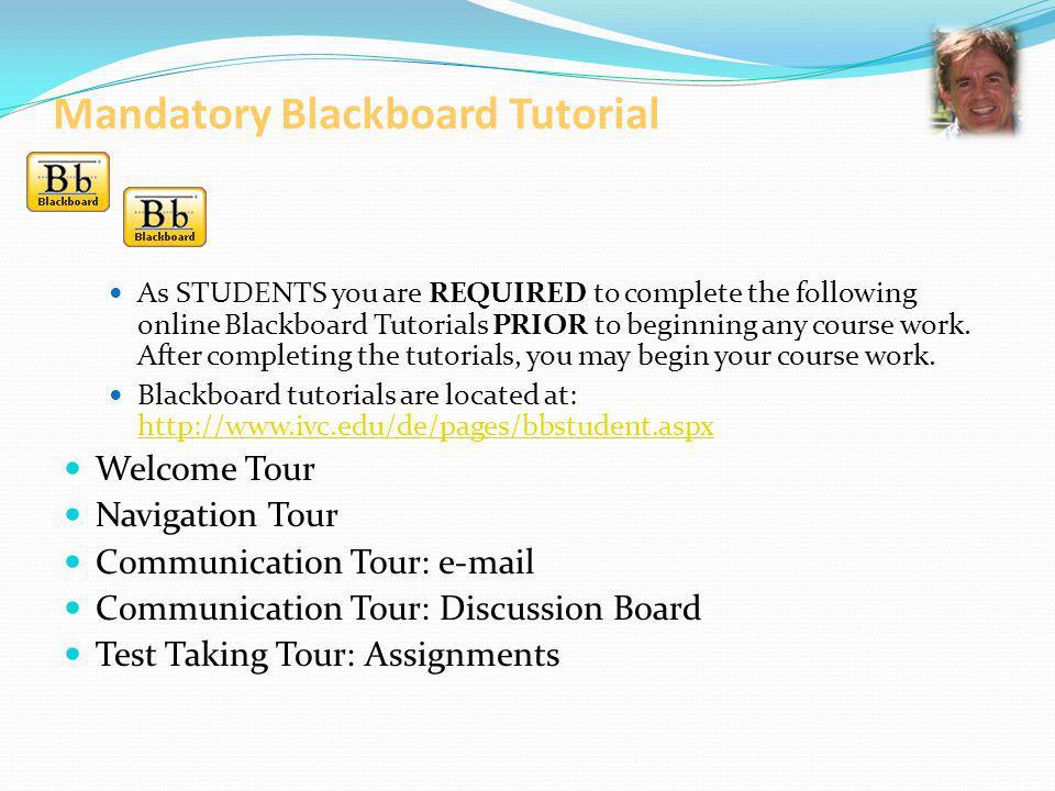Mandatory Blackboard Tutorial