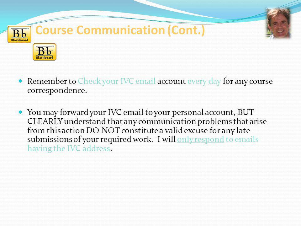 Course Communication (Cont.)