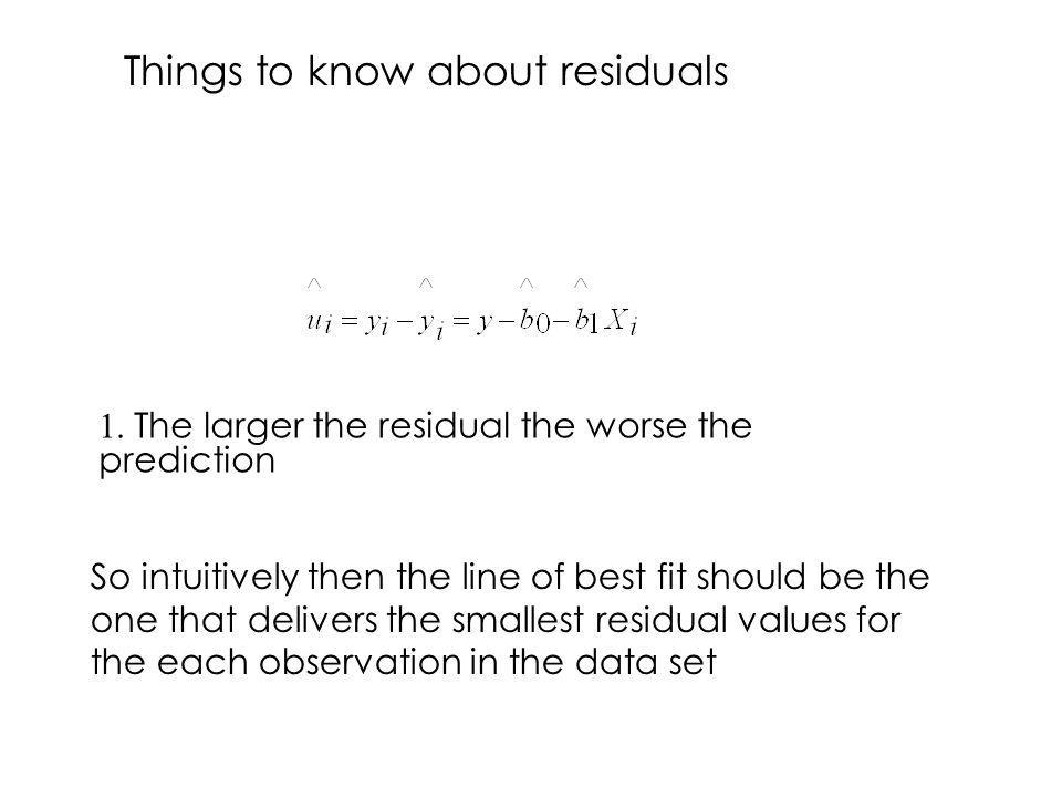 Things to know about residuals