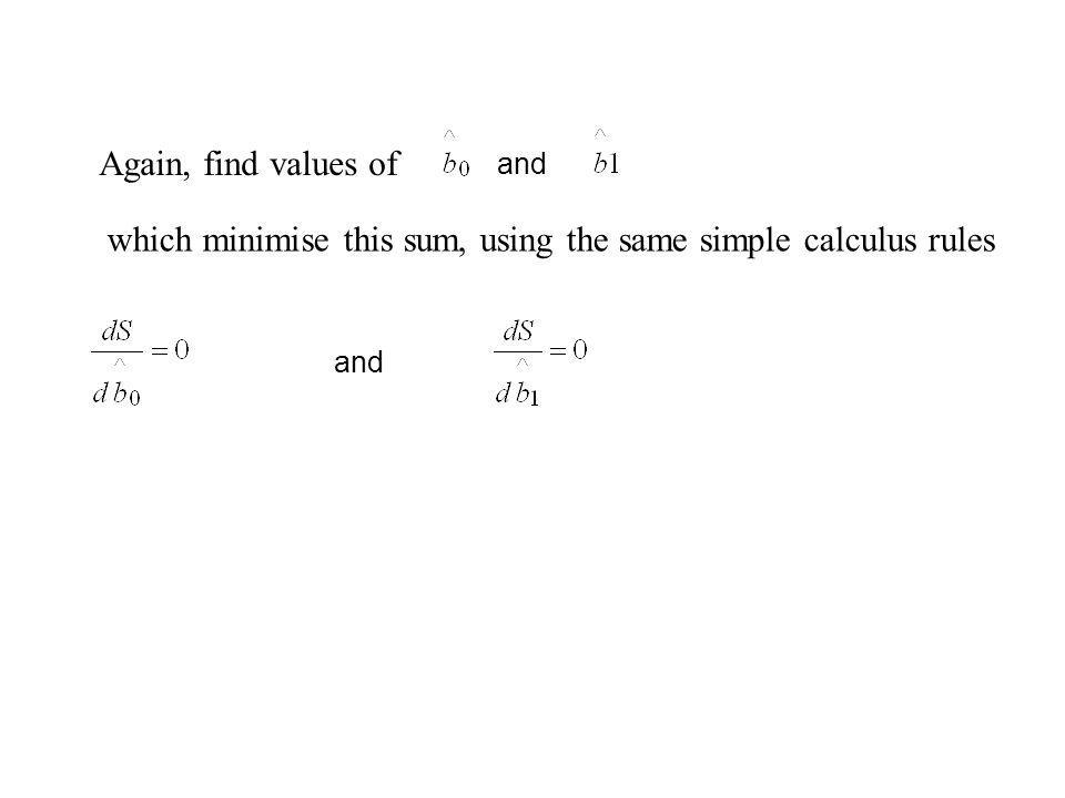 which minimise this sum, using the same simple calculus rules