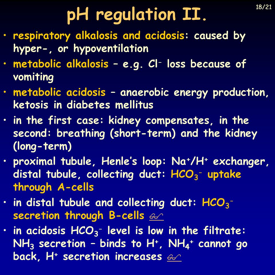 pH regulation II. 18/21. Eckert: Animal Physiology, W.H.Freeman and Co., N.Y.,2000, Fig. 14-29.