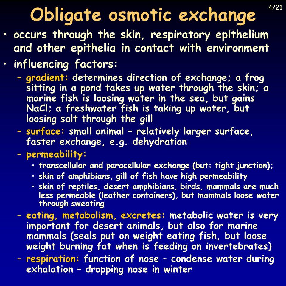 Obligate osmotic exchange
