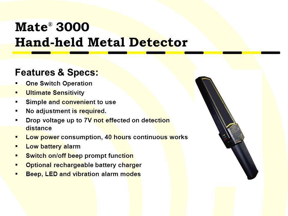 Mate® 3000 Hand-held Metal Detector