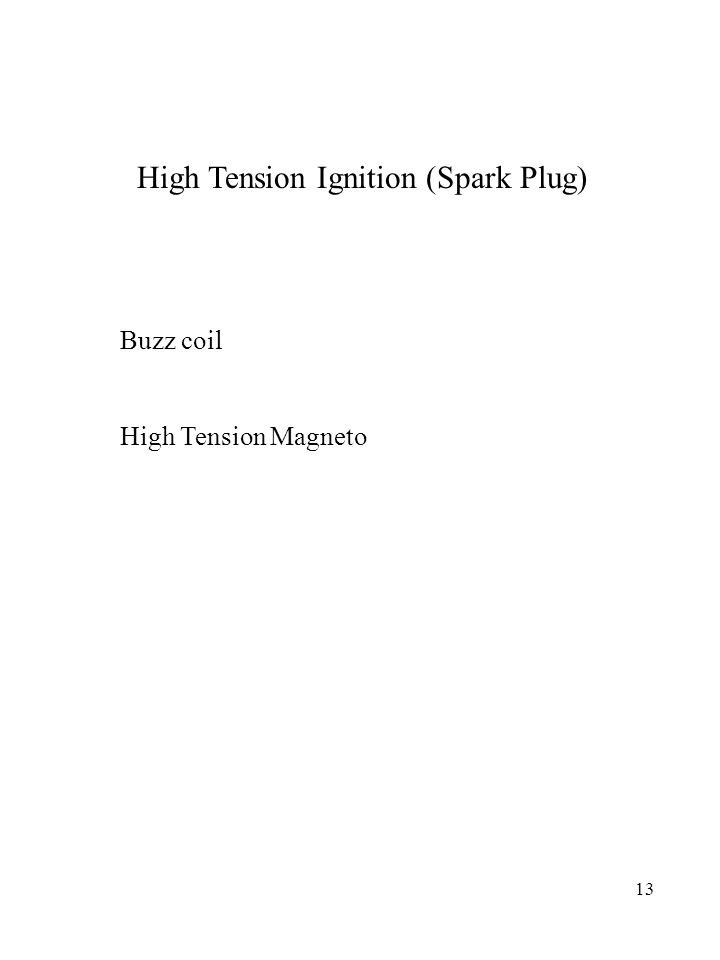 High Tension Ignition (Spark Plug)
