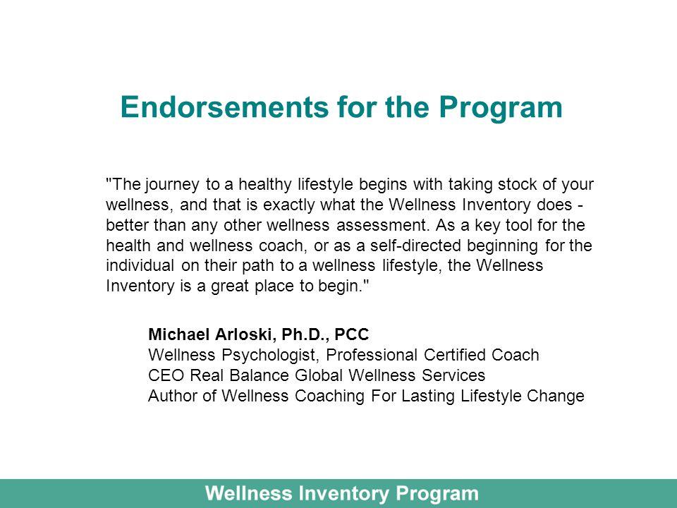 Endorsements for the Program