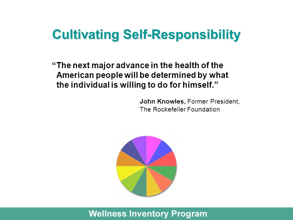 Cultivating Self-Responsibility