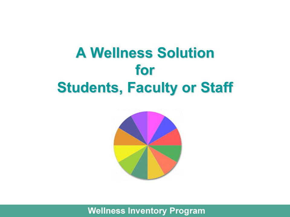 A Wellness Solution for Students, Faculty or Staff