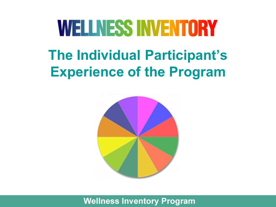 The Individual Participant's Experience of the Program