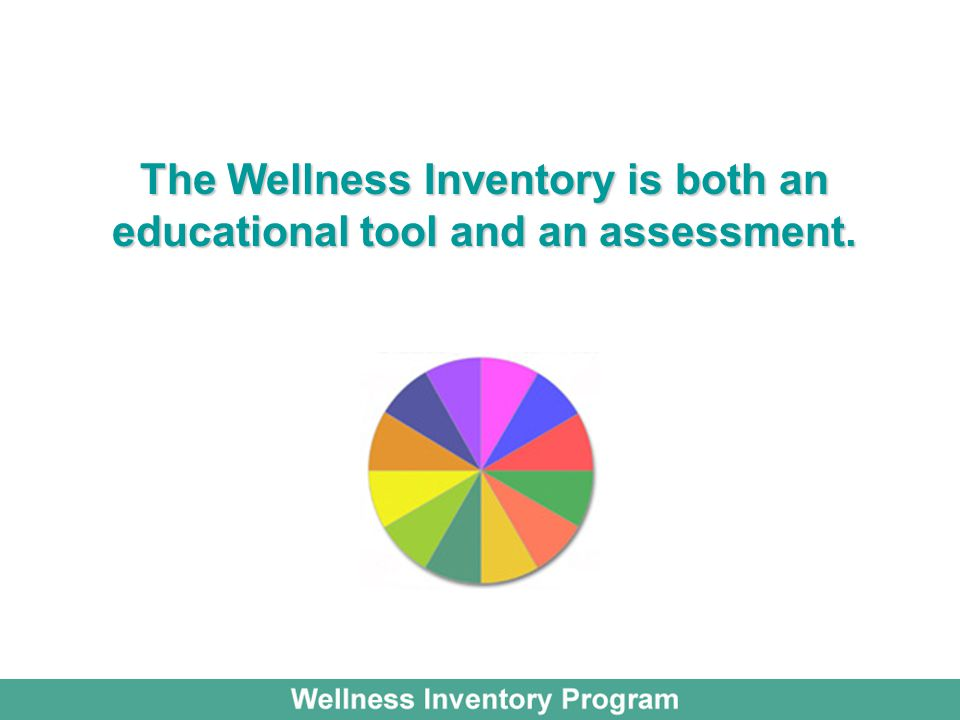 The Wellness Inventory is both an educational tool and an assessment.