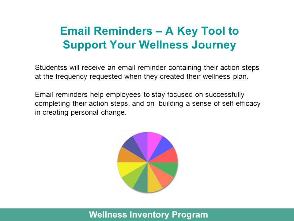 Email Reminders – A Key Tool to Support Your Wellness Journey