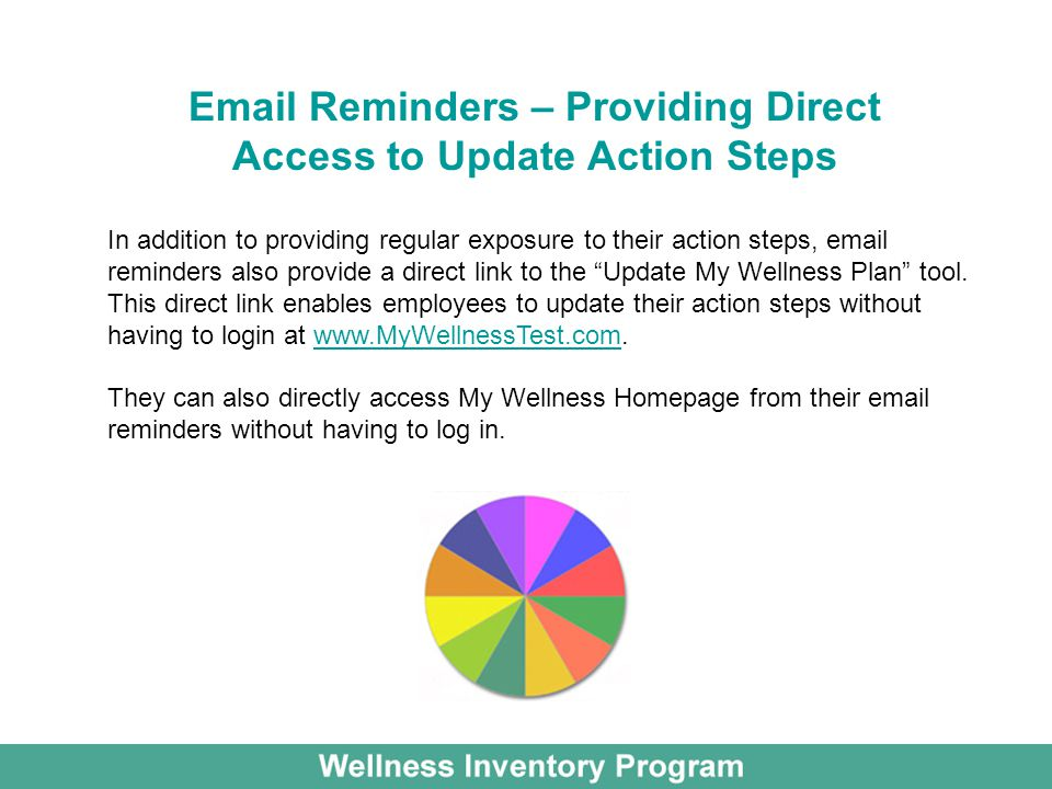 Email Reminders – Providing Direct Access to Update Action Steps
