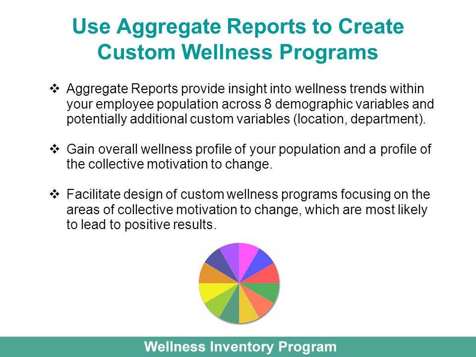 Use Aggregate Reports to Create Custom Wellness Programs