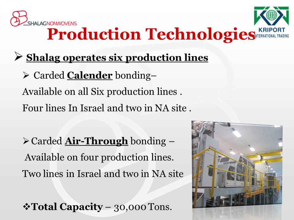 Production Technologies