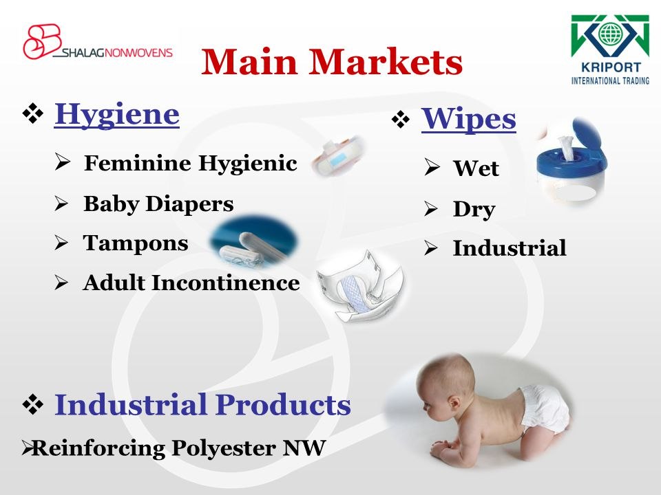 Main Markets Hygiene Industrial Products Wipes Feminine Hygienic Wet