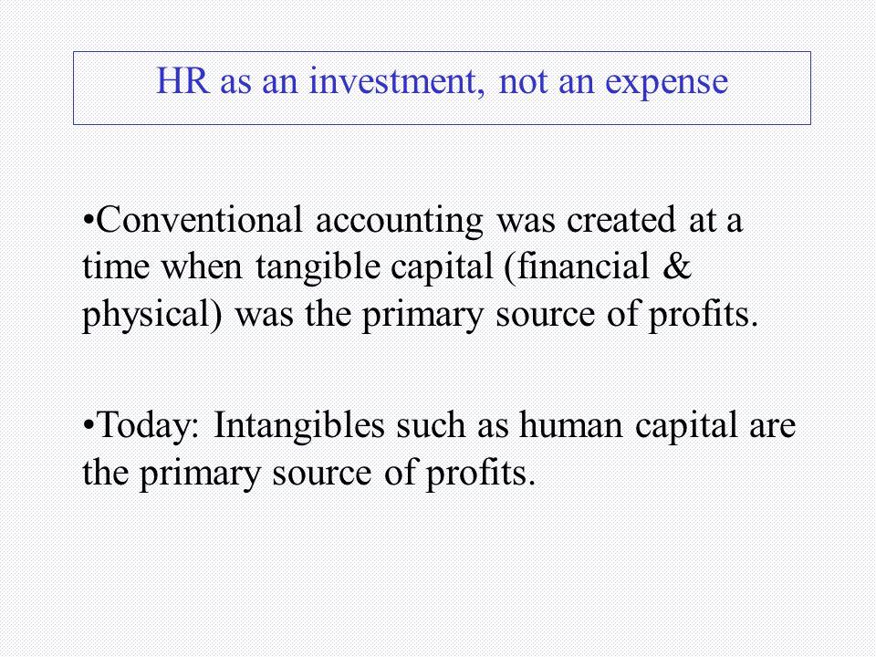 HR as an investment, not an expense