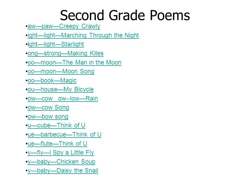 Second Grade Poems aw—paw—Creepy Crawly