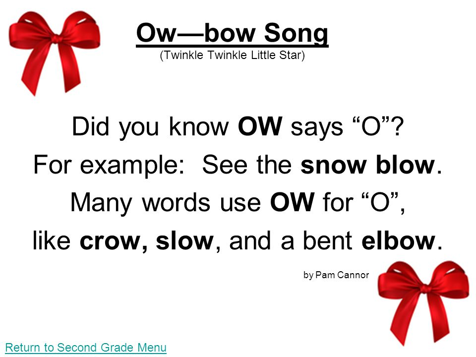 Ow—bow Song (Twinkle Twinkle Little Star)