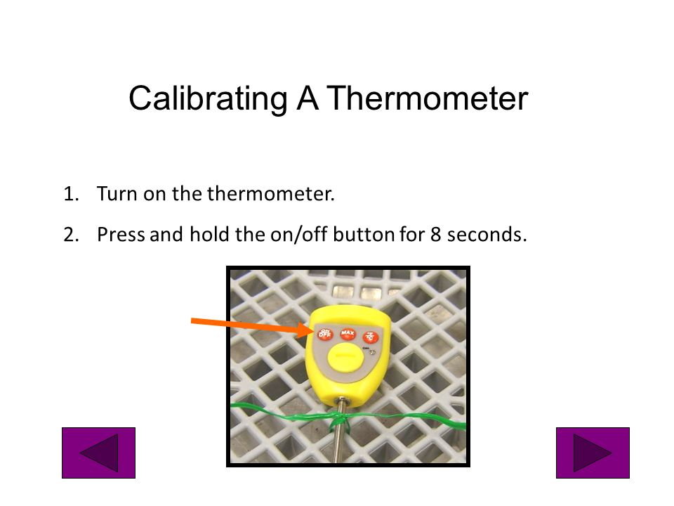 Calibrating A Thermometer
