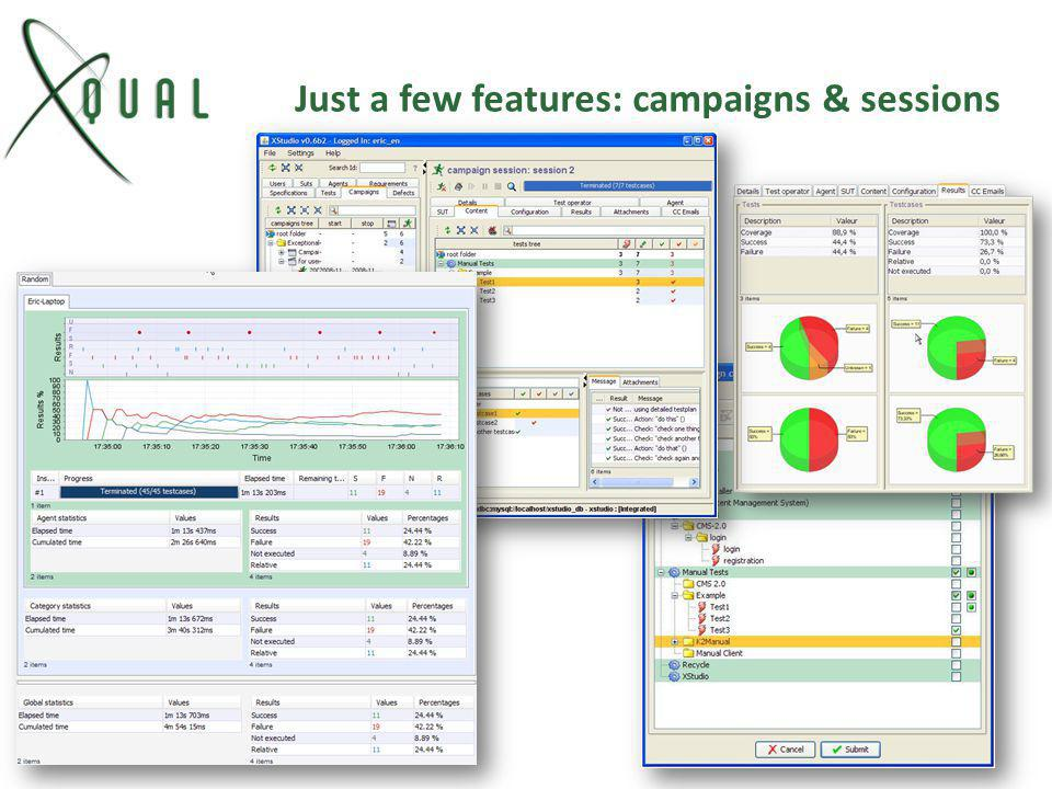Just a few features: campaigns & sessions