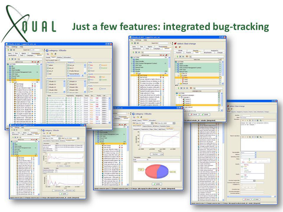 Just a few features: integrated bug-tracking