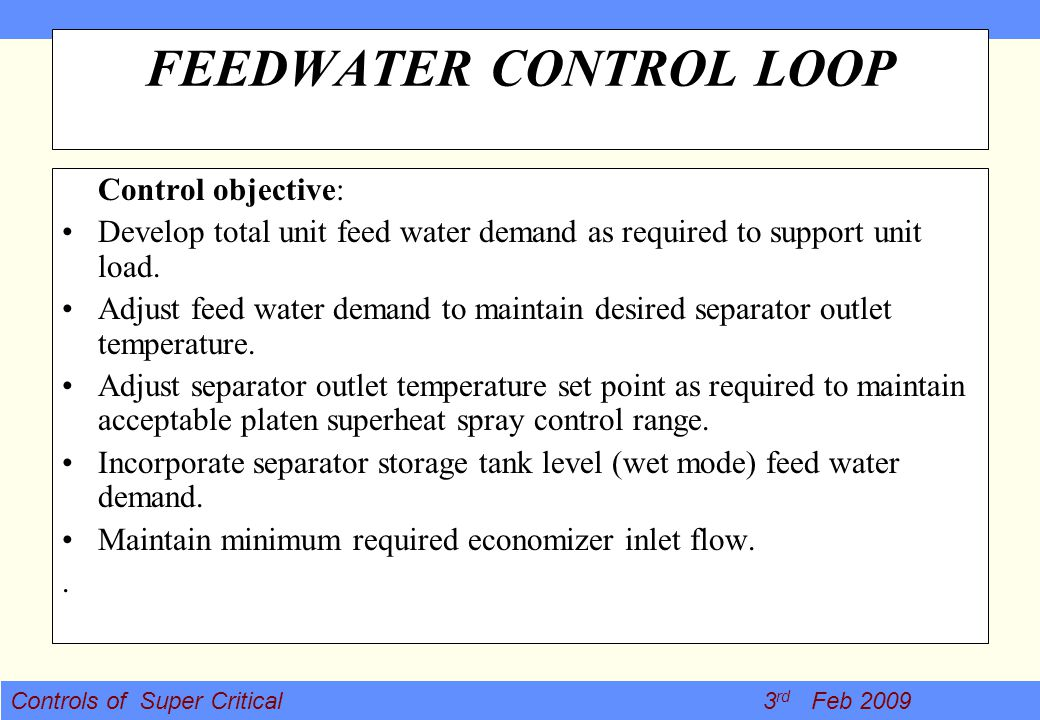 FEEDWATER CONTROL LOOP