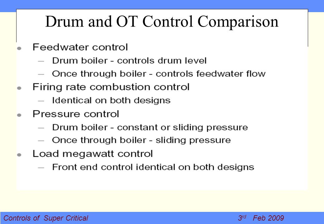 CONTROLS OF SUPER CRITICAL BOILERS - ppt video online download