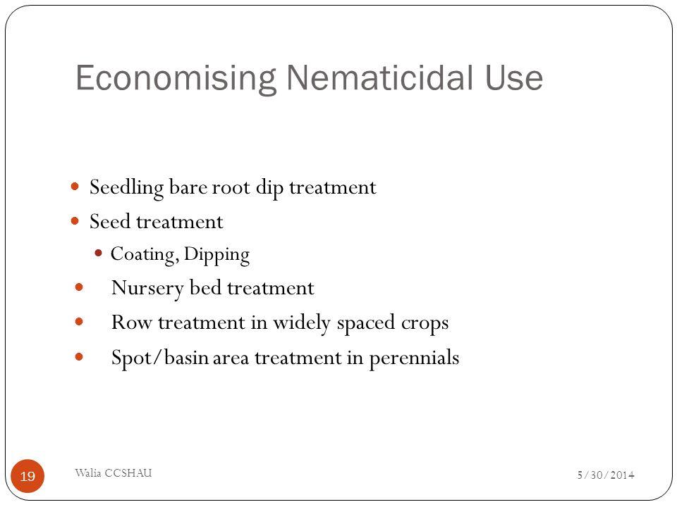 Economising Nematicidal Use