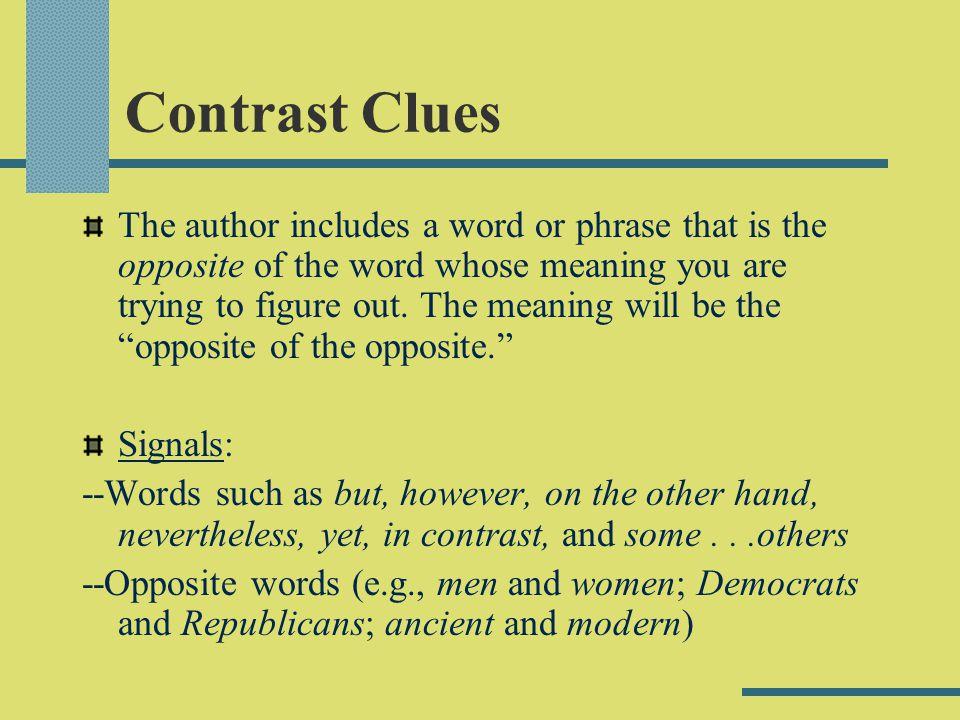 Contrast Clues