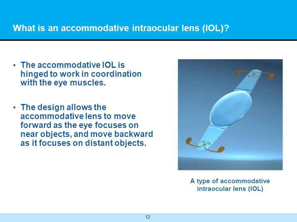 What is an accommodative intraocular lens (IOL)