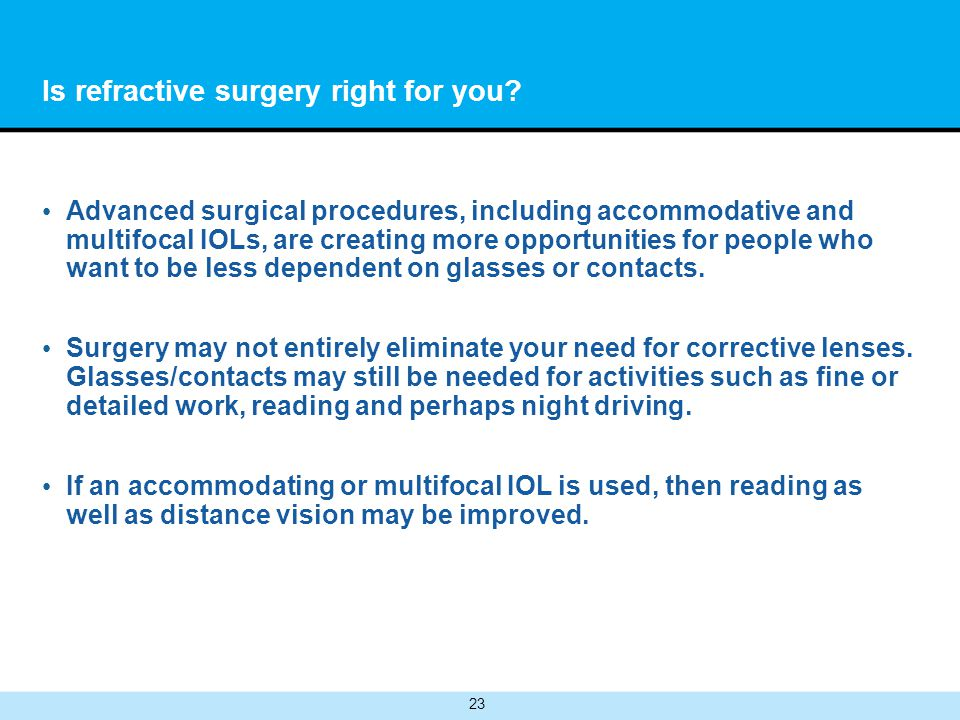Is refractive surgery right for you