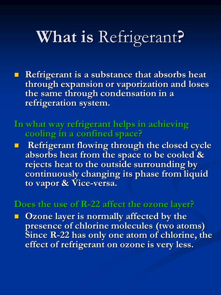 What is Refrigerant