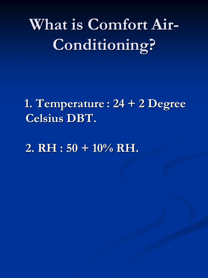 What is Comfort Air-Conditioning