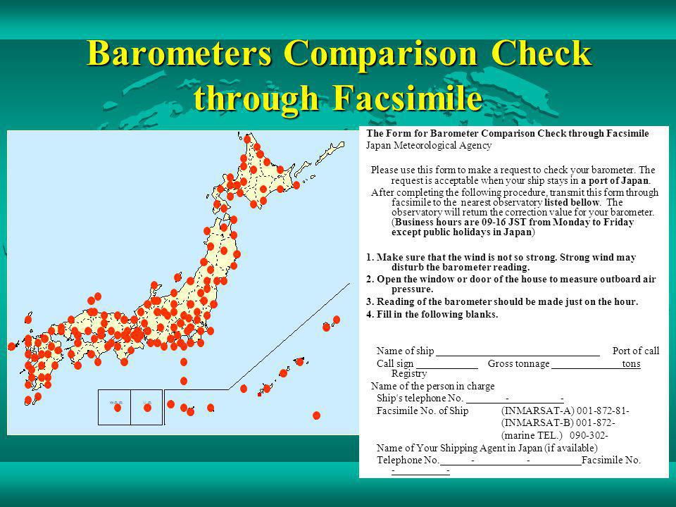 Barometers Comparison Check through Facsimile