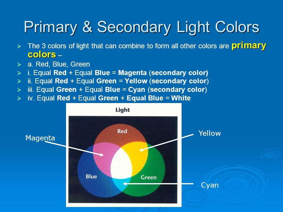 Primary & Secondary Light Colors