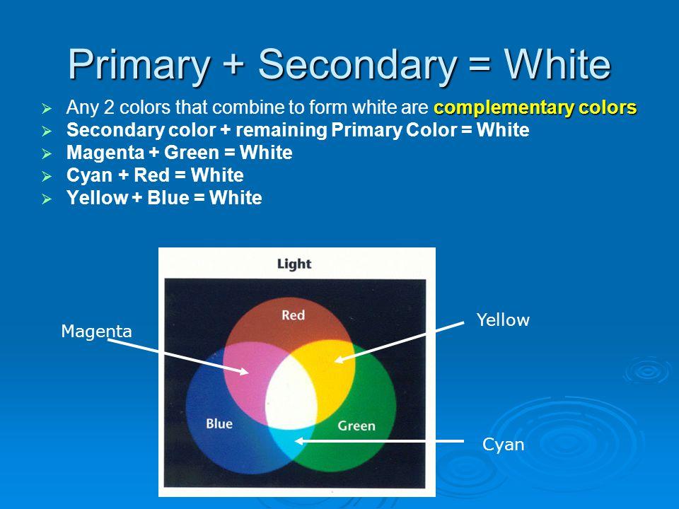 Primary + Secondary = White