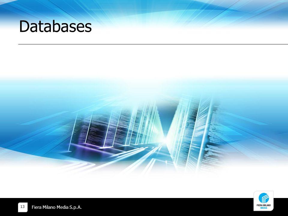 Databases Fiera Milano Media S.p.A.