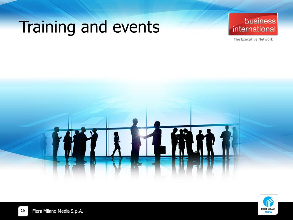 Training and events Fiera Milano Media S.p.A.