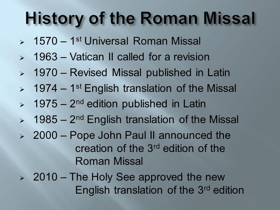 History of the Roman Missal