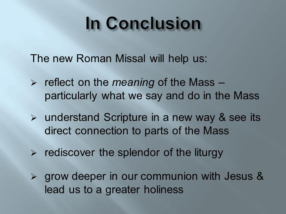 The New Translation of the Mass