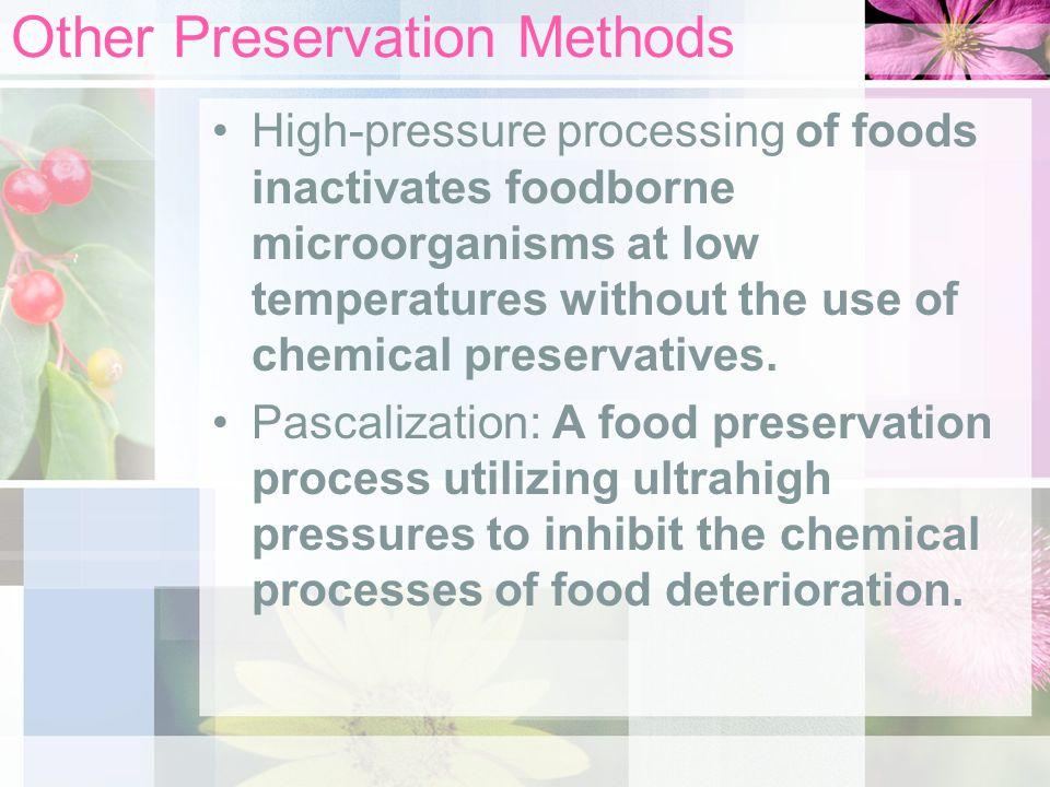 Other Preservation Methods