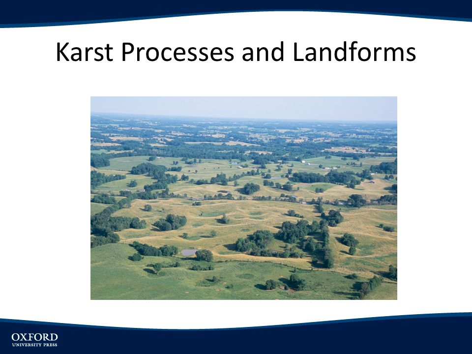 Karst Processes and Landforms