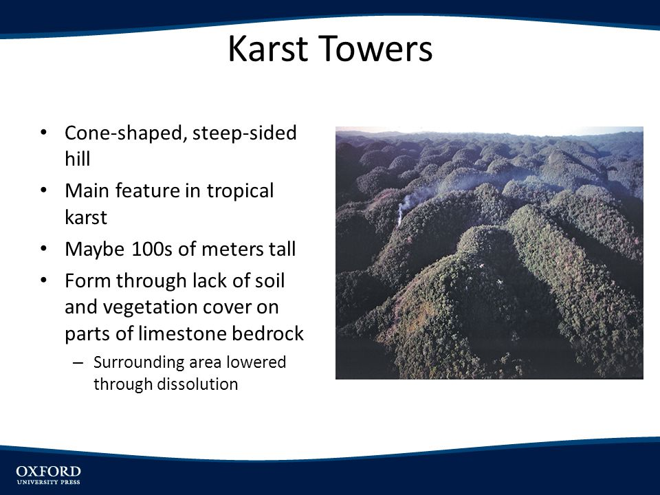 Karst Towers Cone-shaped, steep-sided hill
