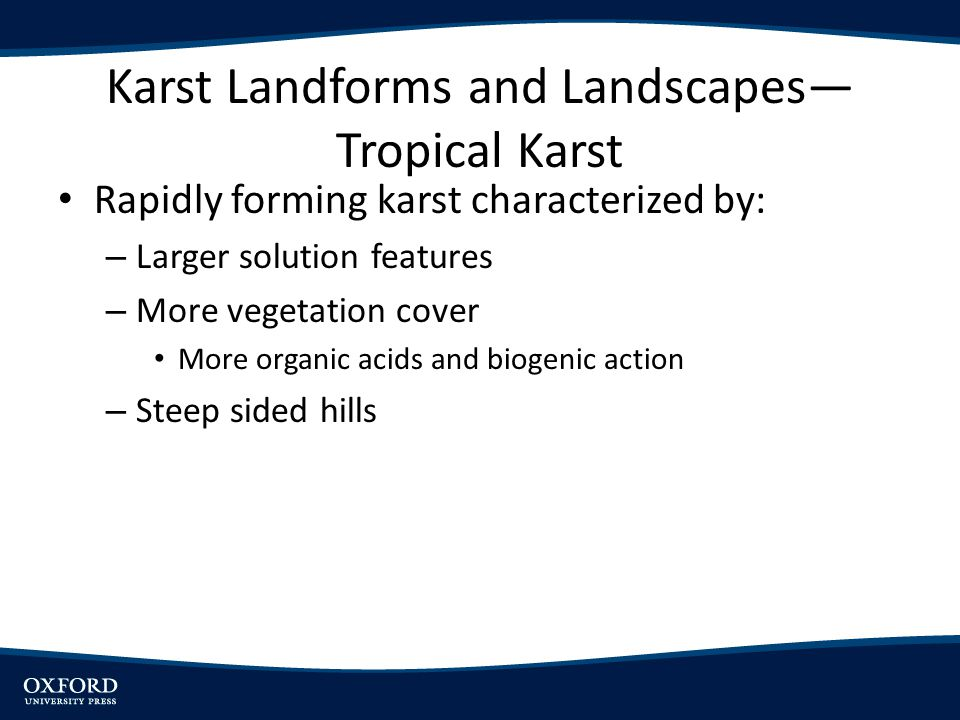 Karst Landforms and Landscapes—Tropical Karst
